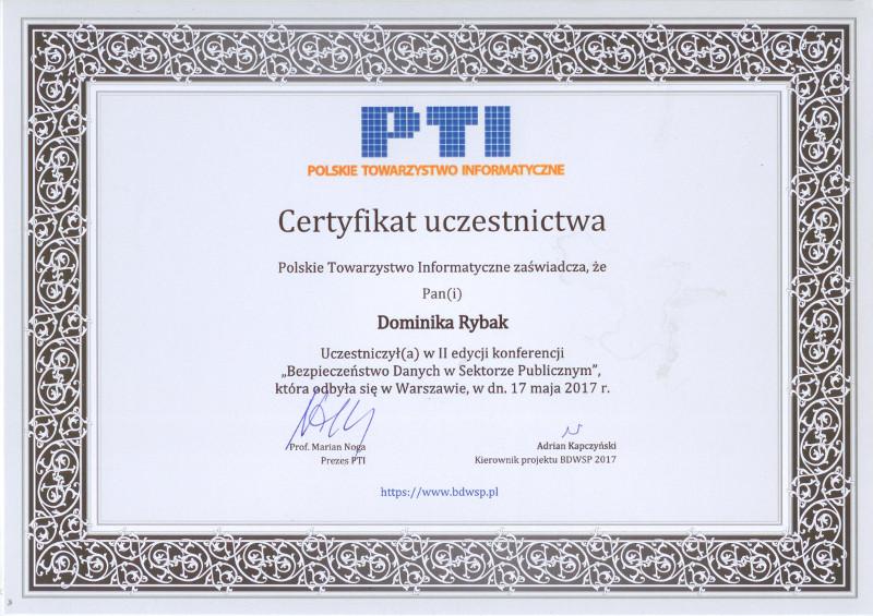 Certyfikat PTI