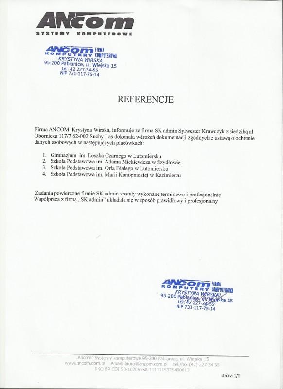 Referencje Ancom