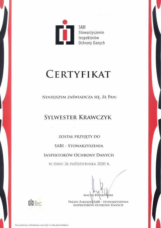 Certyfikat SABI